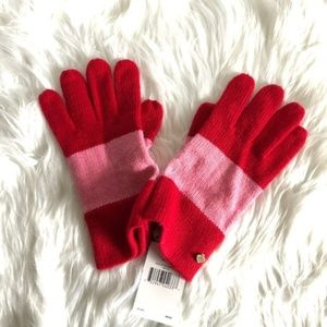 Kate Spade Color Block Stripe Gloves NWT